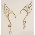 Elf Ear Bronze Ear Wrap with Crystal