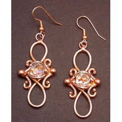 Bronze Figure 8 Crystal Earrings Gothic Plus  Gothic Clothing, Jewelry, Goth Shoes, Boots & Home Decor