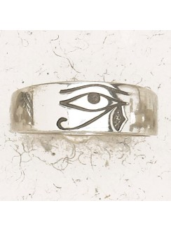 Eye of Horus Pewter Band Ring Gothic Plus Gothic Clothing, Jewelry, Goth Shoes & Boots & Home Decor