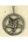 Baphomet Inverted Pentagram Pewter Necklace