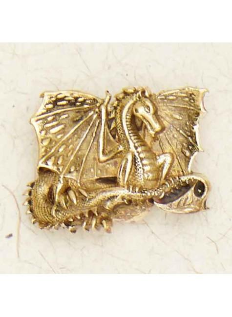 Celtic Dragon Bronze Necklace
