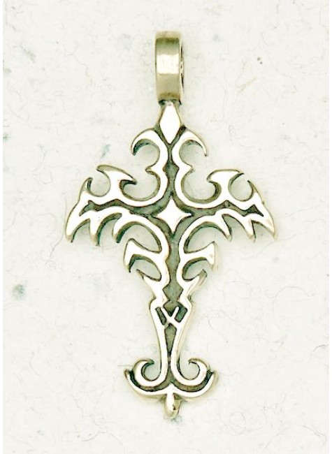 Gothic Cross Bronze Necklace at Gothic Plus, Gothic Clothing, Jewelry, Goth Shoes & Boots & Home Decor