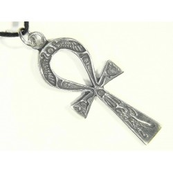 Ankh Inscribed Pewter Necklace Gothic Plus Gothic Clothing, Jewelry, Goth Shoes & Boots & Home Decor