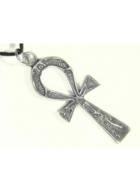 Ankh Inscribed Pewter Necklace at Gothic Plus, Gothic Clothing, Jewelry, Goth Shoes & Boots & Home Decor