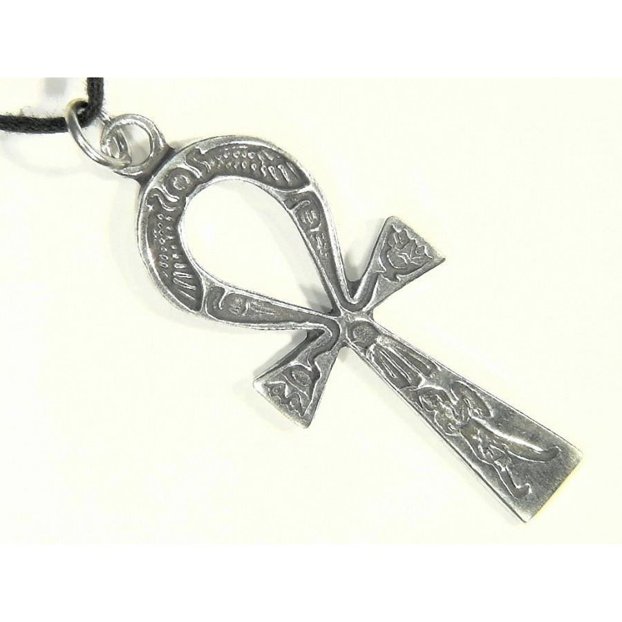 Ankh inscribed pewter necklace in pewter or brass egyptian jewelry ankh inscribed pewter necklace at gothic plus gothic clothing jewelry goth shoes biocorpaavc