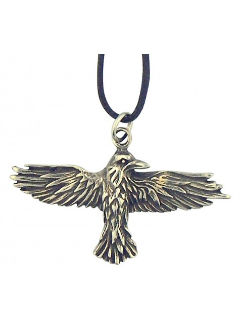 Celtic Raven Pewter Necklace at Gothic Plus, Gothic Clothing, Jewelry, Goth Shoes & Boots & Home Decor