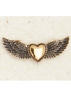 Winged Heart Bronze Necklace Gothic Plus Gothic Clothing, Jewelry, Goth Shoes & Boots & Home Decor
