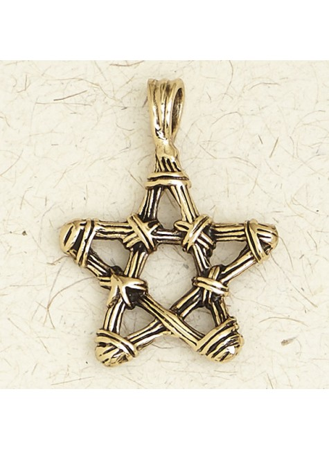 Bronze Twig Pentagram Necklace at Gothic Plus, Gothic Clothing, Jewelry, Goth Shoes & Boots & Home Decor