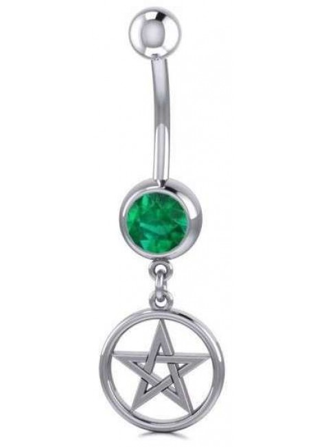 Pentacle Body Jewelry with Gemstone at Gothic Plus, Gothic Clothing, Jewelry, Goth Shoes & Boots & Home Decor
