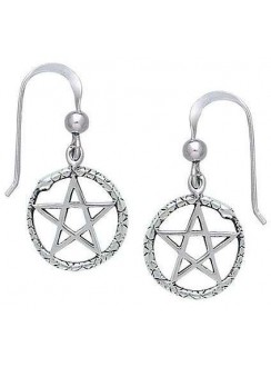Ouroborus Snake of Rebirth Pentacle Earrings Gothic Plus Gothic Clothing, Jewelry, Goth Shoes & Boots & Home Decor