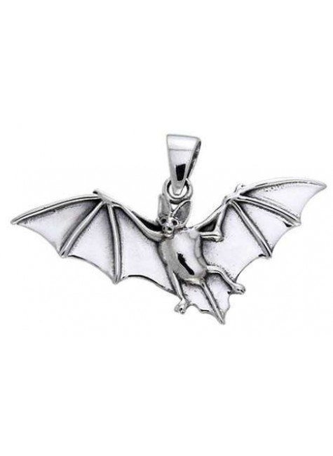 Bat in Flight Sterling Silver Pendant at Gothic Plus, Gothic Clothing, Jewelry, Goth Shoes & Boots & Home Decor
