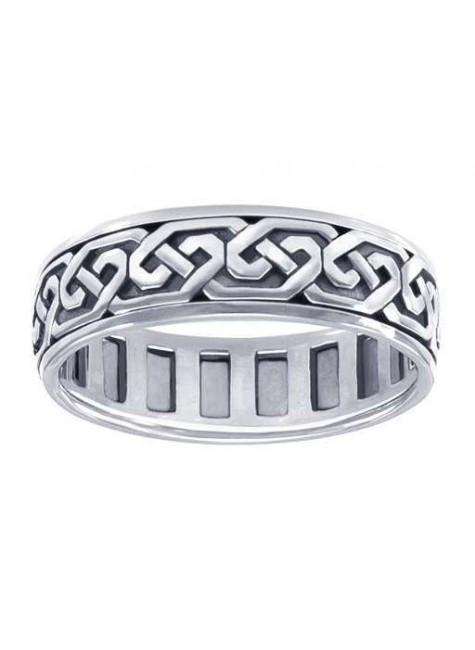 Celtic Knot Solid Sterling Silver Fidget  Spinner Ring at Gothic Plus, Gothic Clothing, Jewelry, Goth Shoes & Boots & Home Decor