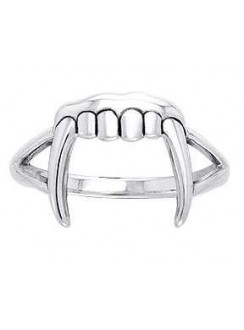 Vampire Teeth Sterling Silver Ring Gothic Plus Gothic Clothing, Jewelry, Goth Shoes & Boots & Home Decor
