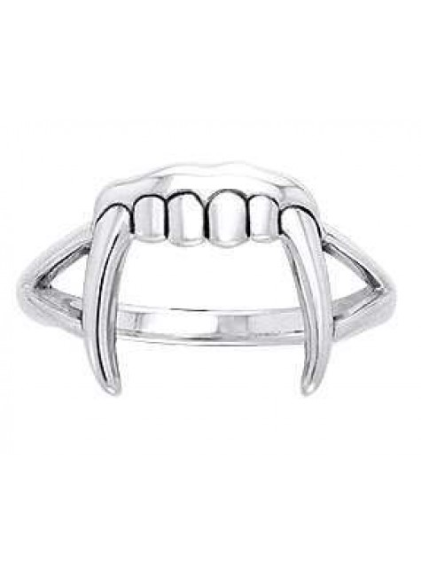 Vampire Teeth Sterling Silver Ring at Gothic Plus, Gothic Clothing, Jewelry, Goth Shoes & Boots & Home Decor
