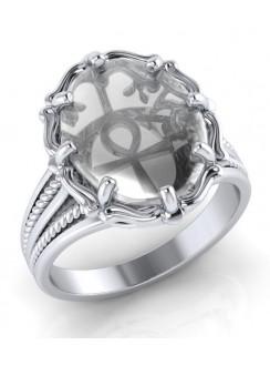 Ankh Natural Clear Quartz Ring