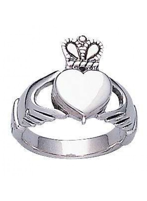 Celtic Claddagh Silver Poison Ring at Gothic Plus, Gothic Clothing, Jewelry, Goth Shoes & Boots & Home Decor
