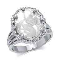 Dragon Natural Clear Quartz Ring