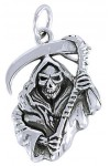 Grim Reaper Sterling Silver Charm