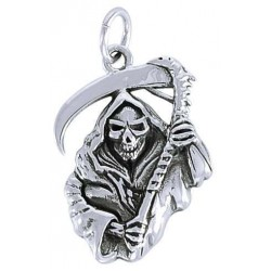 Grim Reaper Sterling Silver Charm Gothic Plus  Gothic Clothing, Jewelry, Goth Shoes, Boots & Home Decor