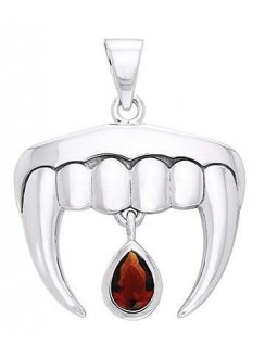 Vampire Teeth Sterling Silver Blood Drop Pendant Gothic Plus Gothic Clothing, Jewelry, Goth Shoes & Boots & Home Decor