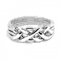 4 Band Heavy Turkish Puzzle Ring