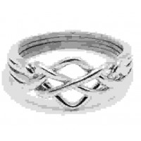 4 Band Open Turkish Puzzle Ring