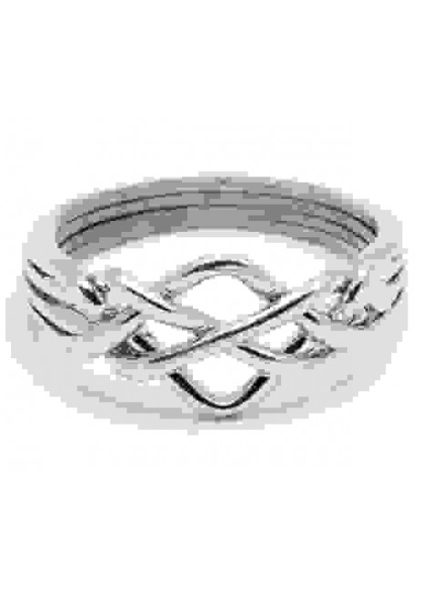 4 Band Open Turkish Puzzle Ring at Gothic Plus, Gothic Clothing, Jewelry, Goth Shoes & Boots & Home Decor