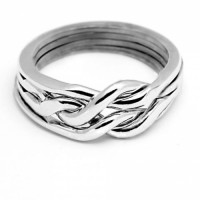 4 Band Heavy Chain Puzzle Ring