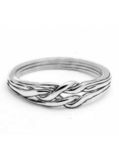 4 Band Light Chain Puzzle Ring