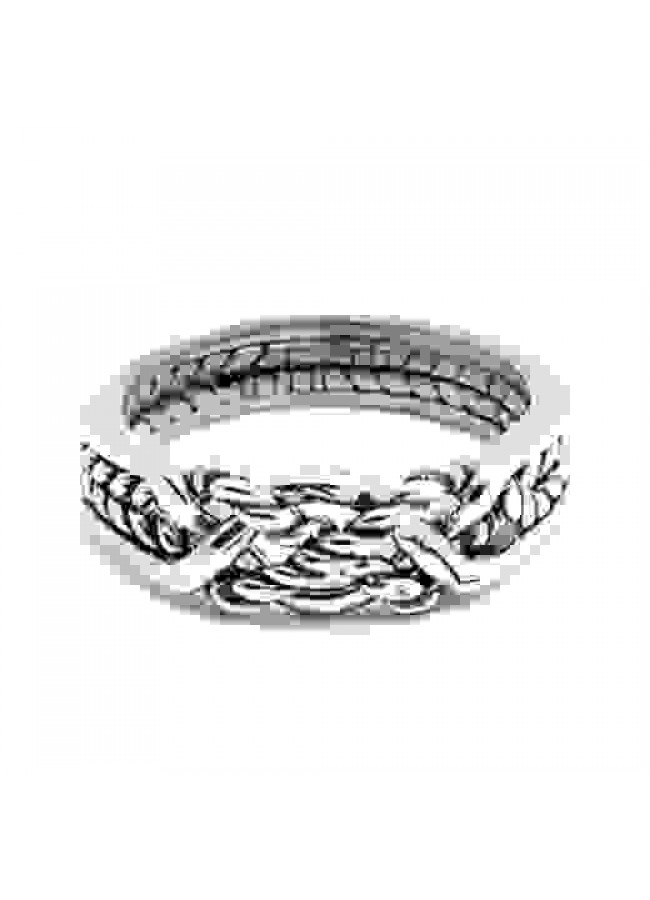 4 Band Interlocking Turkish Puzzle Ring Size 10 Sterling Silver