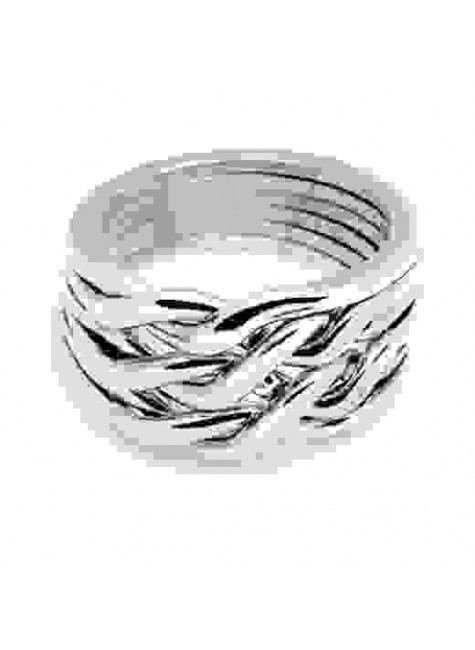 6 Band Heavy Chain Puzzle Ring at Gothic Plus, Gothic Clothing, Jewelry, Goth Shoes & Boots & Home Decor