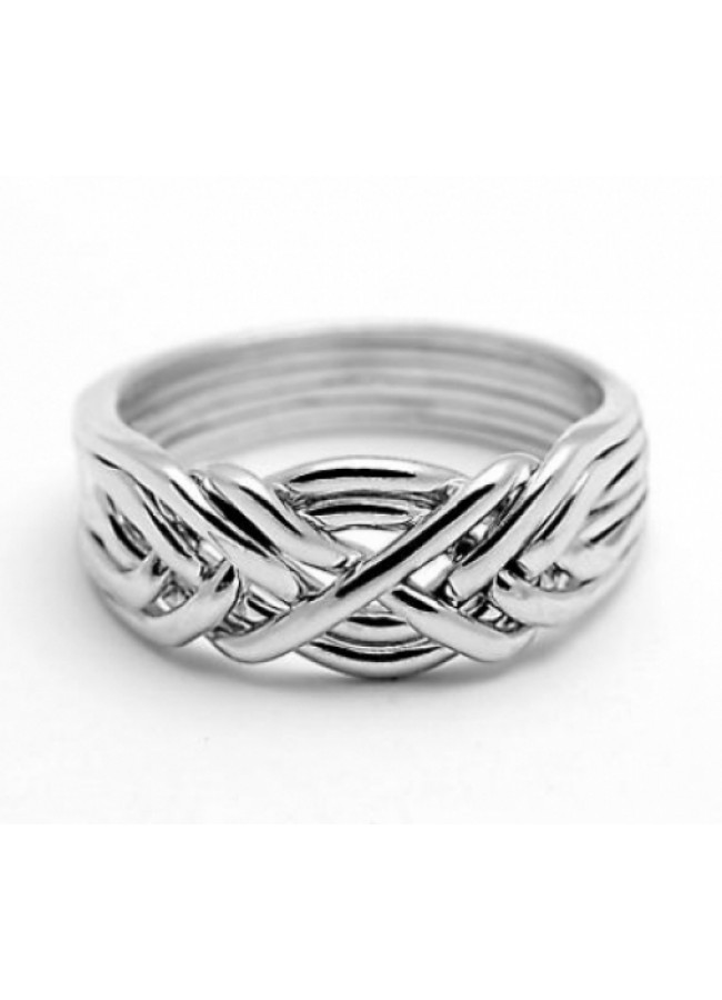 Interlocking Ring Twisted Ring Sterling Silver Three Band Puzzle Ring Stacking Ring *MADE TO ORDER*