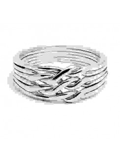 6 Band Light Chain Puzzle Ring