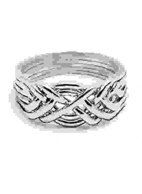 6 Band Heavy Turkish Puzzle Ring