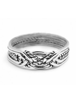 6 Band Turkish Twist Puzzle Ring Gothic Plus Gothic Clothing, Jewelry, Goth Shoes & Boots & Home Decor