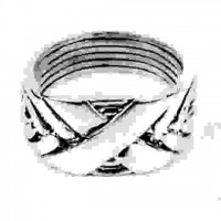 6 Band Wide X Turkish Puzzle Ring