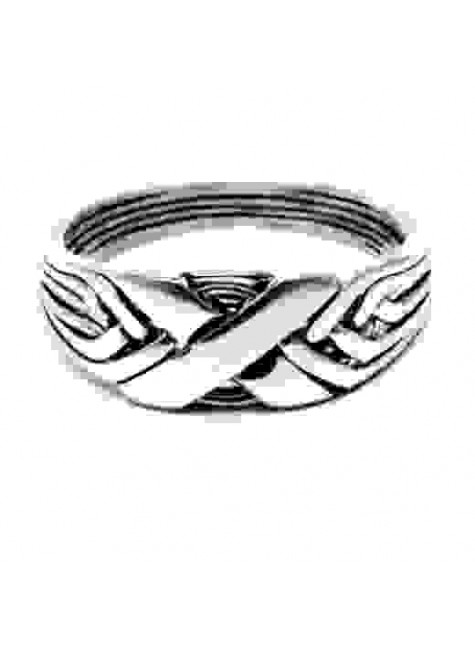 6 Band Wide X Light Turkish Puzzle Ring at Gothic Plus, Gothic Clothing, Jewelry, Goth Shoes & Boots & Home Decor