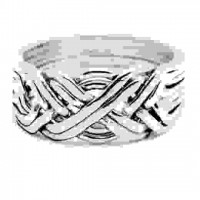 8 Band Heavy Turkish Puzzle Ring
