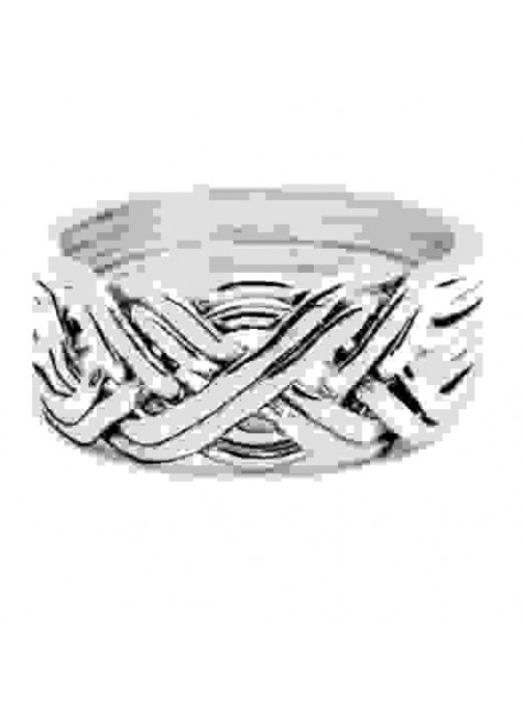 8 Band Heavy Turkish Puzzle Ring at Gothic Plus, Gothic Clothing, Jewelry, Goth Shoes & Boots & Home Decor