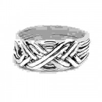 8 Band Light Turkish Puzzle Ring