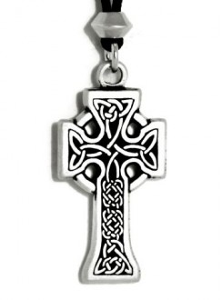 Celtic Knotwork Cross Pewter Necklace Gothic Plus Gothic Clothing, Jewelry, Goth Shoes & Boots & Home Decor
