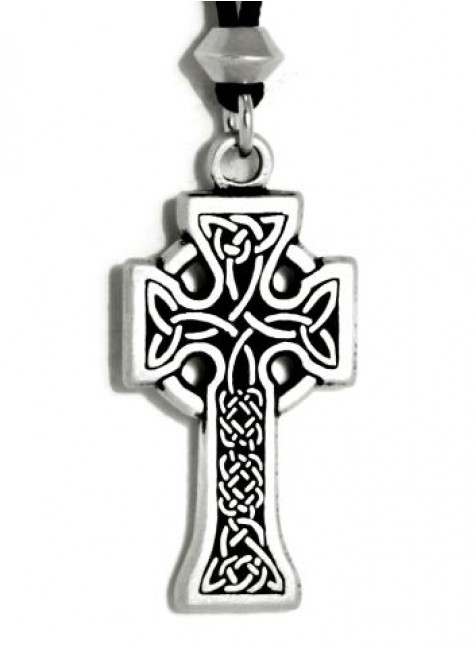Celtic Knotwork Cross Pewter Necklace at Gothic Plus, Gothic Clothing, Jewelry, Goth Shoes & Boots & Home Decor