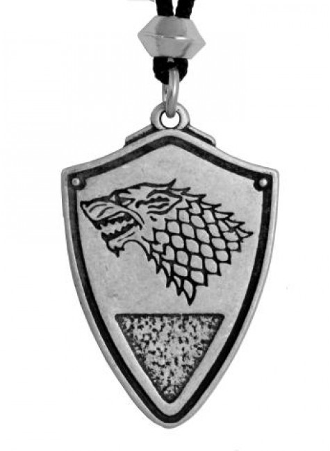 Dire Wolf: Winter is Coming Pewter Necklace at Gothic Plus, Gothic Clothing, Jewelry, Goth Shoes & Boots & Home Decor