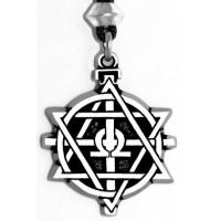 God of Fire Hephaestus Pewter Necklace