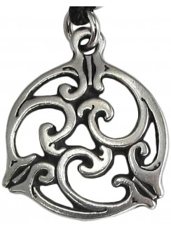 Triscele Celtic Spiral Pewter Necklace in 2 Sizes Gothic Plus Gothic Clothing, Jewelry, Goth Shoes & Boots & Home Decor