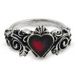 Betrothal Gothic Heart Pewter Ring