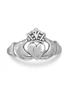 Claddagh Oxidized Sterling Silver Ring Gothic Plus Gothic Clothing, Jewelry, Goth Shoes & Boots & Home Decor