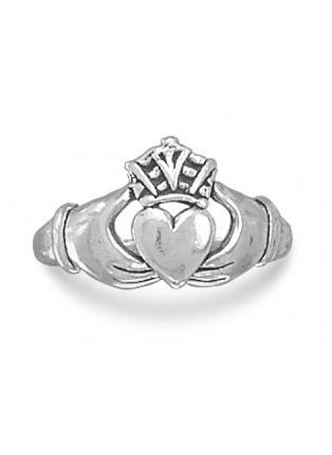 Claddagh Oxidized Sterling Silver Ring at Gothic Plus, Gothic Clothing, Jewelry, Goth Shoes & Boots & Home Decor
