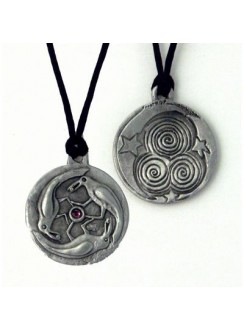 Triple Spirals Raven Pewter Necklace Gothic Plus Gothic Clothing, Jewelry, Goth Shoes & Boots & Home Decor