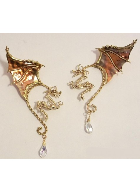 Winged Dragon Bronze Ear Wrap at Gothic Plus, Gothic Clothing, Jewelry, Goth Shoes & Boots & Home Decor